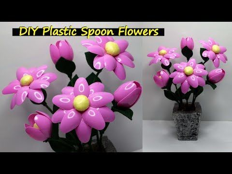 Ide Kreatif Bunga Hias Yang Sangat Cantik Dari Sendok Plastik