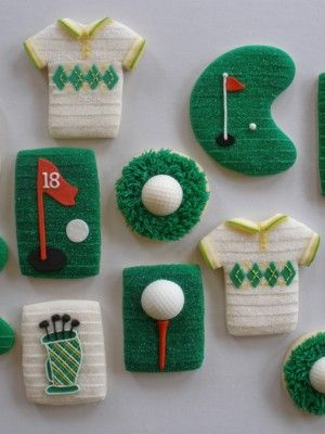 golf cookies  see more cookies and cakes at my Please Not Another Tie Board