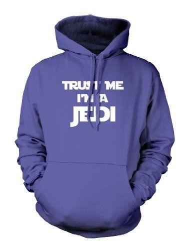 Trust Me Im A Jedi Funny Movie Star Wars Yoda Luke Skywalker Mens Size Hoodie Sweatshirt (Medium ROYAL BLUE)