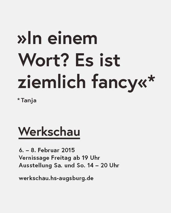 Werkschau der Fakultät für Gestaltung der HS Augsburg | Slanted - Typo Weblog und Magazin