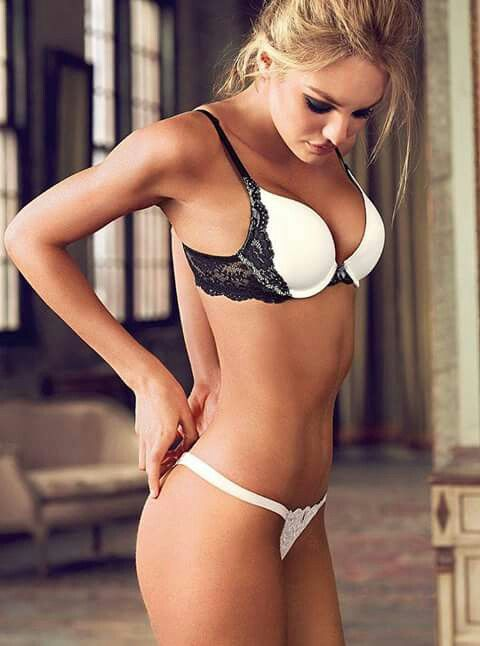 Lovely white with black detail lingerie set