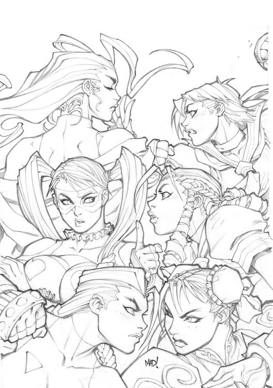 Street Fighter cover pencils by Joe Madureira