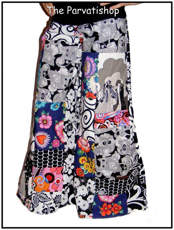 pantalon patchwork pattes d'eph, boheme, bohemian, hippie, ethnique