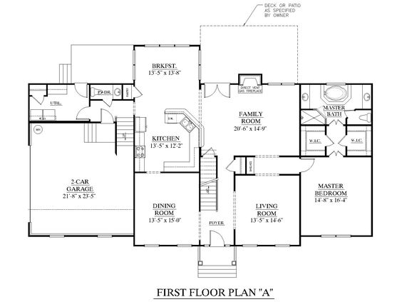 Traditional large family rooms and house plans on pinterest for House plans with downstairs master bedroom