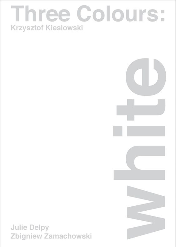 Three Colors: White (1994) ~ Minimal Movie Poster by Xisco Barcelo ~ Swiss Style Design