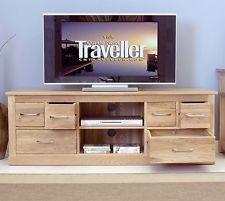 Conran solid oak living room furniture widescreen TV DVD cabinet stand unit