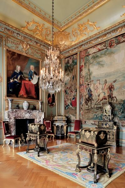 Blenheim Palace Third State Room. Woodstock, Oxfordshire, England, UK: