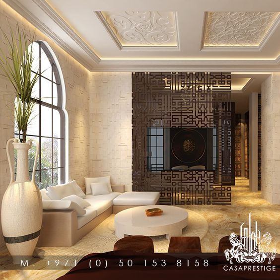 Modern Interior Decoration Living Rooms Ceiling Designs: Modern Arabic Interior -- #Design #InteriorDesign