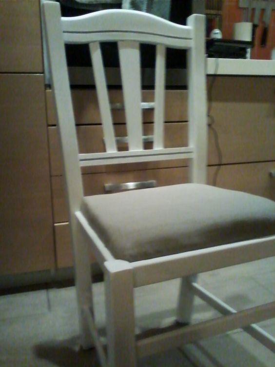 colorazione e imbottitura vecchie sedie di paglia