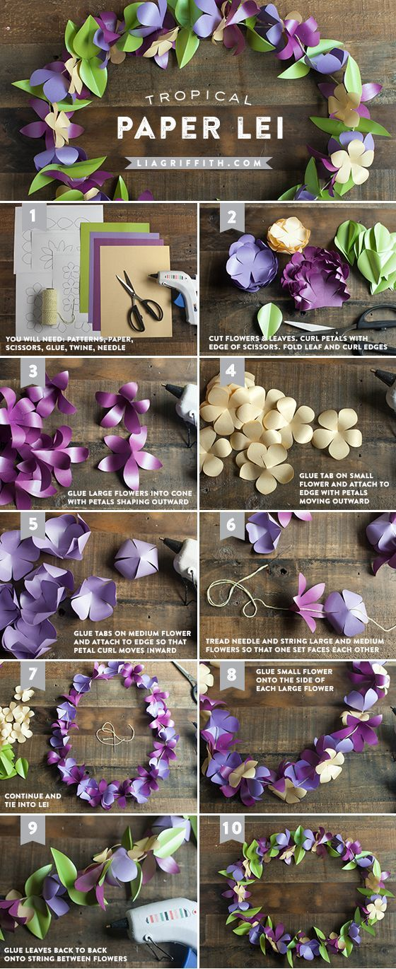 how to make a paper lei