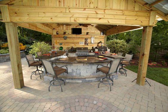 backyard pavilion kits pavilions k round 39 s landscaping