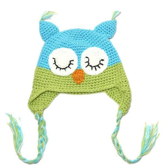 hot baby hat 2016 Baby Girl Toddler Owls Knit Crochet Winter Hat Cap newborn baby photography props winter baby hat kids hats