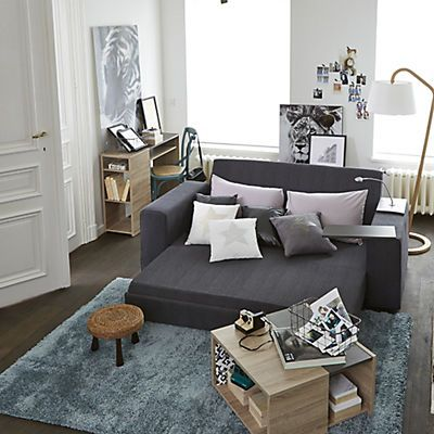stan meuble console finition papier d cor ch ne brut et b ton id es d co pinterest salons. Black Bedroom Furniture Sets. Home Design Ideas