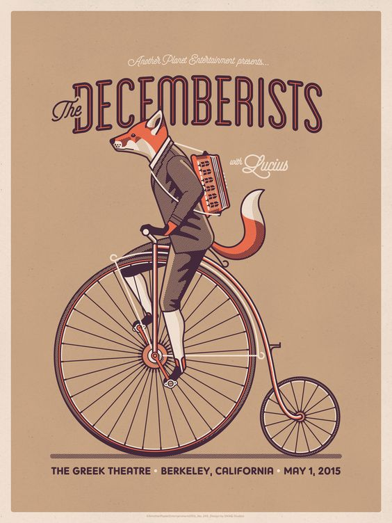 The Decemberists concert poster by DKNG (via dkngstudios.com).
