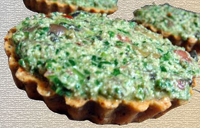 spinach tarts with mushrooms-σπανακι ταρτα με μανιταρια