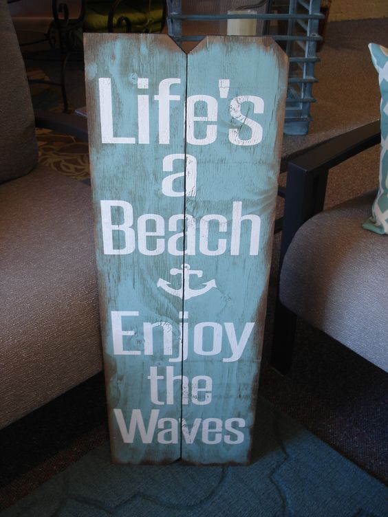 Beach season is almost here!!  Painted a watery blue to greet your beach guests.  swansfurnituredesign@windstream.net