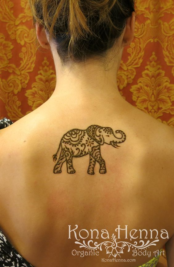 Mehndi Elephant Tattoo : Organic henna products professional studio