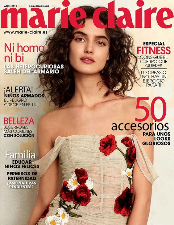 Blanca Padilla by Michelle Ferrara for Marie Claire Spain April 2016 Cover - Dolce&Gabbana Spring 2016: