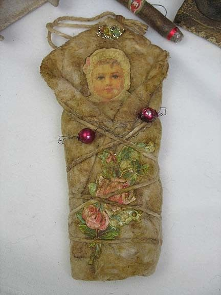 Antique Baby Girl Ornament