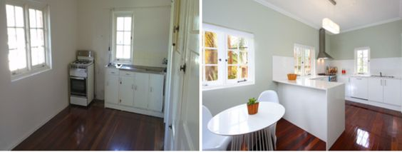 Before and After Kitchen Makeover...