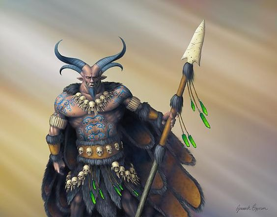 Painting based on the Celtic Fomorian King, Balor. Digital ...  Balor Myth