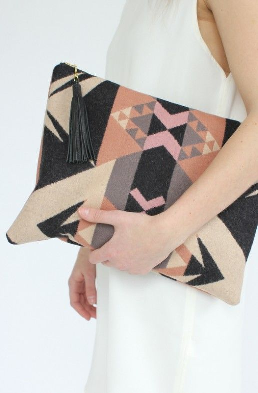 Kayla's pick: gorgeous Pendleton textile bag made here in Portland by Seaecho- makes for the perfect laptop case or oversized clutch. Shop the look here  http://www.yovintage.com/shopDetail.php?itemID=389#.UXsdbCuc7yw  $84