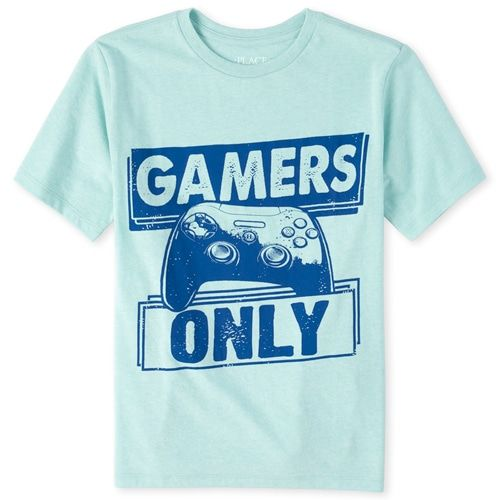 Boys Short Sleeve Flexing My Skills Video Game Graphic Tee Graphic Tees Boy Shorts Tees