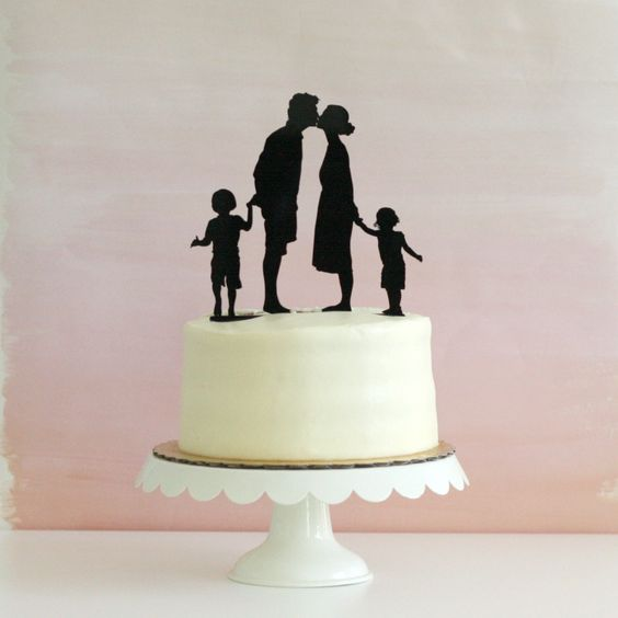 wedding cake topper mom dad baby silhouette wedding cake wedding cake toppers and cake 26356