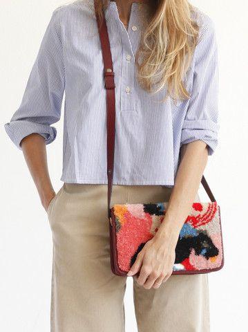 Rachel Comey Ghent Bag - Block Cut Embroidery