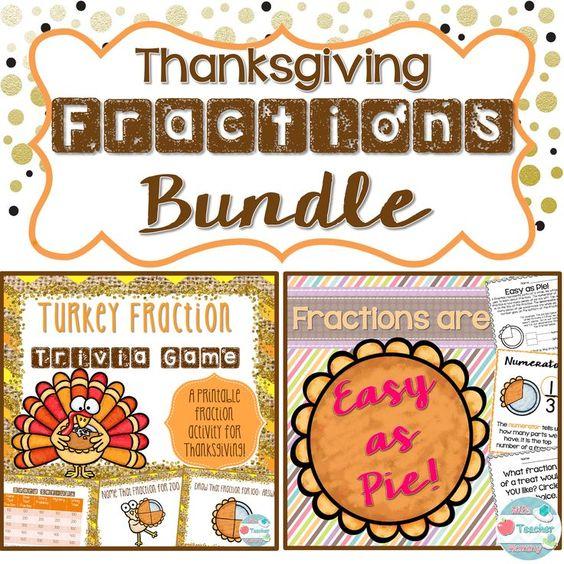 Thanksgiving Fractions Bundle Thanksgiving Fraction Game Pie – Thanksgiving Fraction Worksheets