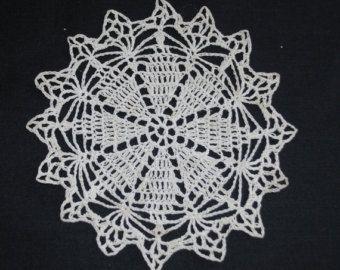 Vintage doily fine crochet by LoveLaneVintageUK on Etsy