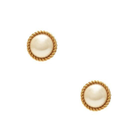 i can never decide between gold or pearls! perfect combo!! Seaport Pearl Studs - Kate Spade