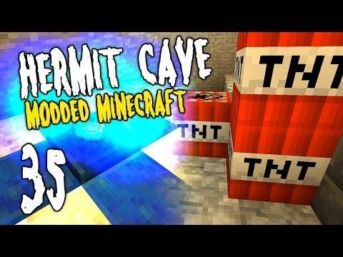 Hermit Cave 35 Fun With Tnt Modded Minecraft Minecraft Mods Minecraft Hermit
