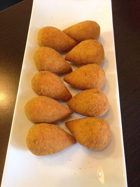 Coixinhas de frango! Brazilian food!