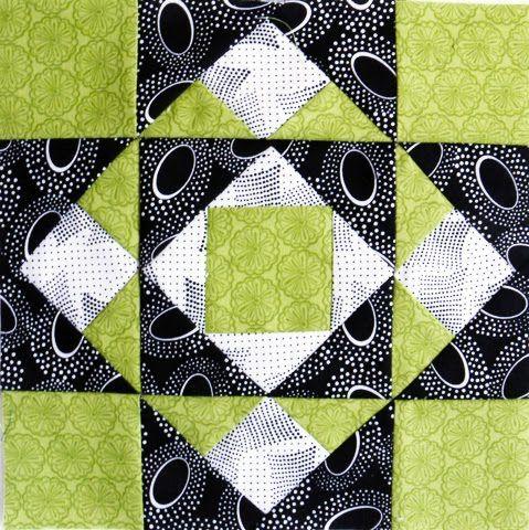 Pérola da vovó: QT Black & White Quilt # 11