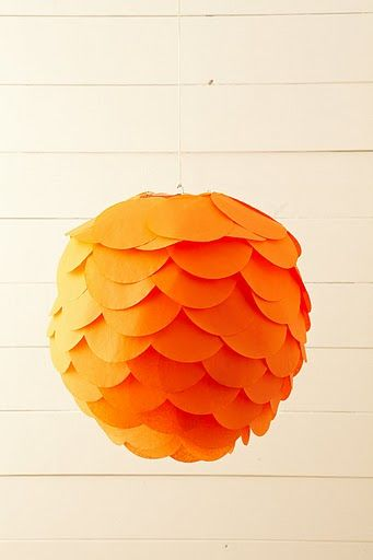 Make this with any paper globe. I have two just sitting around.... wonder what it looks like with the oblong shape I have?