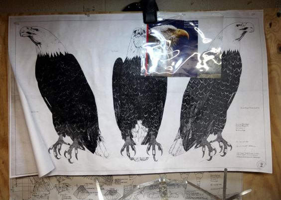 From JSO  Photo Gallery:  Racine artist honors veterans with bald eagle sculpture