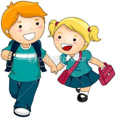 imagenes de ir al colegio animadas - Buscar con Google ...