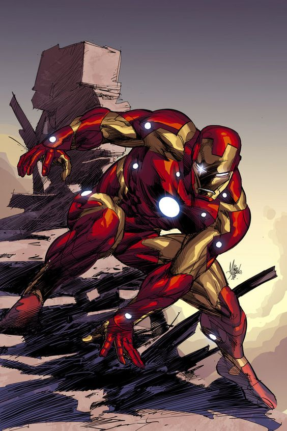 Architects Ironman Cover Art. Lines by Mike Deodato Jr ...