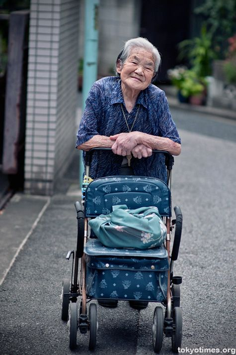 """From the blog: """"Japan is already a nation of old people, really old in many cases, as the number of centenarians is set to hit a record high of over 47,000 this year. A rapid greying of the country that will not only change Japanese society as a whole, but have a hugely detrimental effect on the economy. And yet if all the nation's old people are even half as lovely as this elderly lady, then whatever happens, it'll still be an equally lovely place to live."""""""