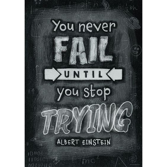 """Motivate and educate your students with the powerful message on this stylish poster. Chart measures 13.375"""" x 19""""."""