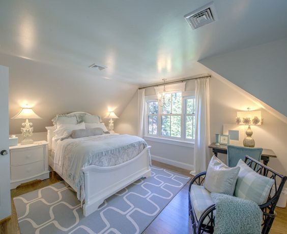 Shingle Cape Cod Home With Blue Kitchen Ceiling White