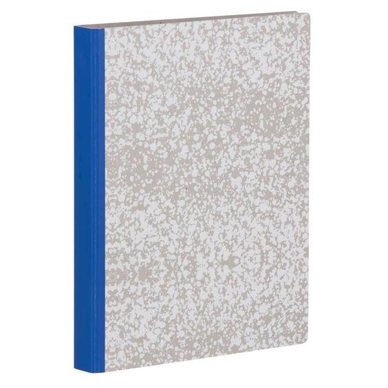 Ferm Living Blanc Splash Binder cartable blanc de 25x31.5cm gris bleu
