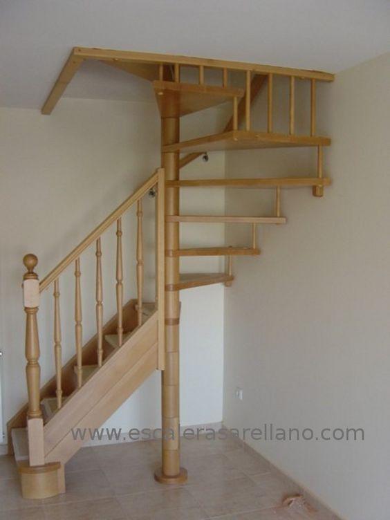 Escaleras de madera rusticas buscar con google - Barandas de escaleras de madera ...