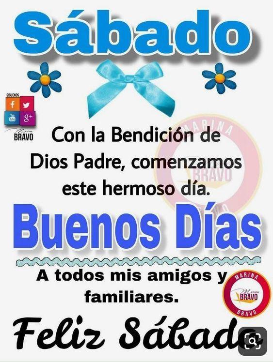 con la bendicion de Dios, feliz sabado