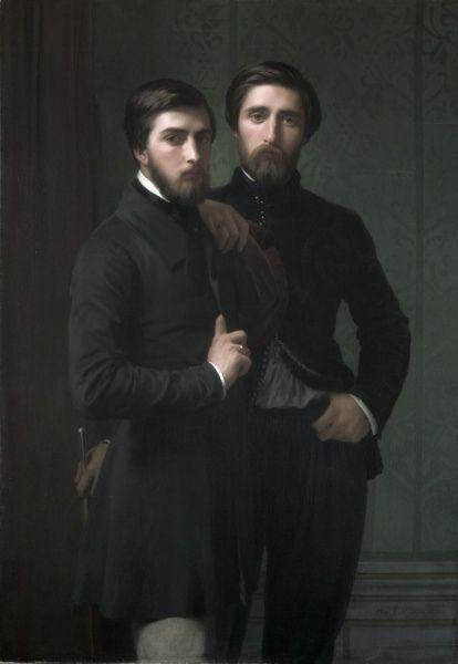 """René-Charles Dassy and his brother Jean-Baptiste-Claude-Amédé Dassy' (1850) Hippolyte Jean Flandrin::"