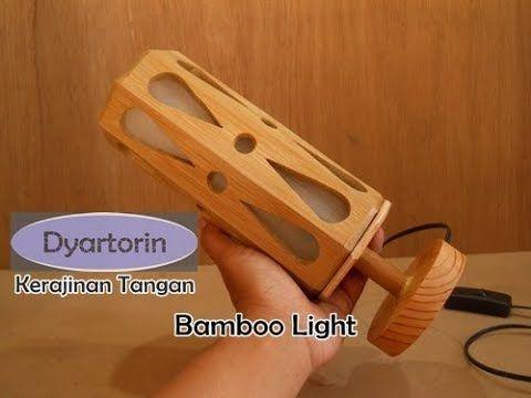 Kerajinan Tangan Lampu Hias Minimalis Dari Bambu Youtube Bambu