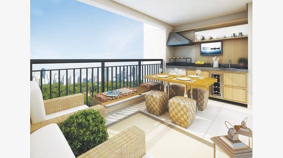 Terraço do apto de 96 m²