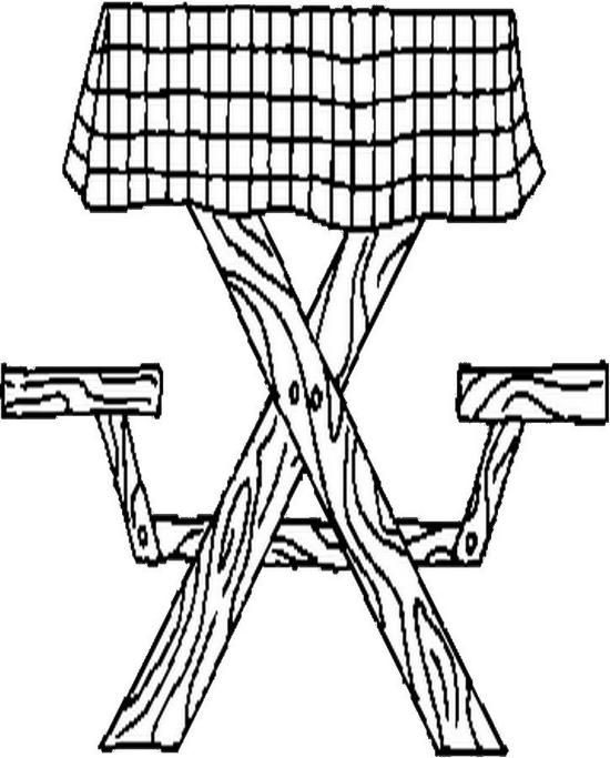 Picnic Table Coloring Pages For Kids Coloring Pages Picnic