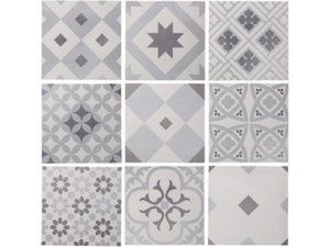Carrelage leroy merlin gatsby artens noir patchwork style carreaux de ciment - Carreaux ciment patchwork ...